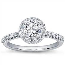Pave Engagement Setting for Round Diamond (0.52 CTTW) | Adiamor