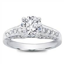 Pave Engagement Setting for Round Diamond (0.58 CTTW) | Adiamor