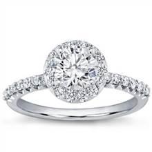 Pave Engagement Setting for Round Diamond | Adiamor
