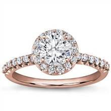 Pave Engagement Setting for Round Diamond | Adiamor