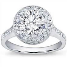 Pave Engagement Setting for Round Diamond   Adiamor