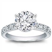 Pave Set Diamond Engagement Ring | Adiamor