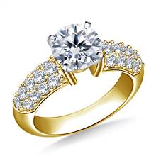 Pave-Set Diamond Engagement Ring in 18K Yellow Gold (7/8 cttw.) | B2C Jewels