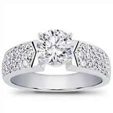 Pave-Set Diamond Engagement Setting | Adiamor