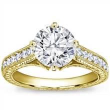 Pave Set Engagement Ring for Round Diamond | Adiamor