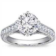 Pave Set Engagement Ring for Round Diamond | Adiamor