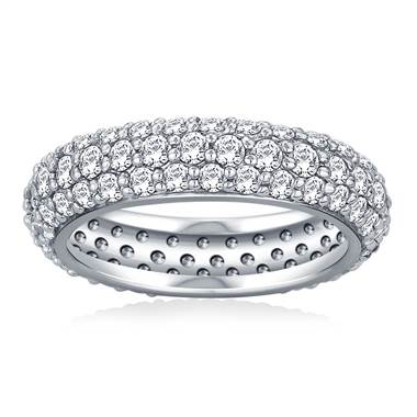 Pave Set Rounded Diamond Eternity Ring in Platinum (1.96 - 2.24 cttw)