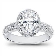 Pave Setting for Oval Diamond | Adiamor