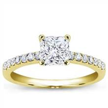 Pave Setting for Square Diamond | Adiamor