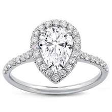 Pear Shape Diamond Halo Engagement Setting | Adiamor
