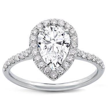 Pear Shape Diamond Halo Engagement Setting