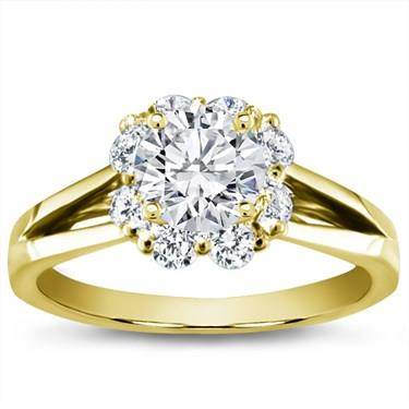 Petal Halo Diamond Engagement Setting (0.55 CTTW)