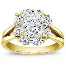 Petal Halo Diamond Engagement Setting   Adiamor