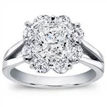 Petal Halo Diamond Engagement Setting | Adiamor