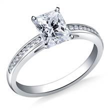 Petite Channel Set Round Diamond Engagement Ring in Platinum (1/5 cttw) | B2C Jewels