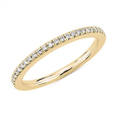 """Petite Diamond Wedding Ring in 14k Yellow Gold (1/8 ct. tw.)"""