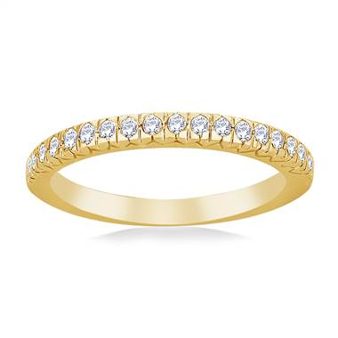 Petite Prong Set Diamond Band in 14K Yellow Gold (1/5 cttw.)