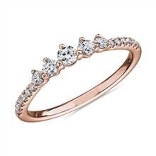 Petite Tiara Diamond Wedding Ring in 14k Rose Gold (1/3 ct. tw.)   Blue Nile