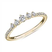 Petite Tiara Diamond Wedding Ring in 14k Yellow Gold (1/3 ct. tw.)   Blue Nile