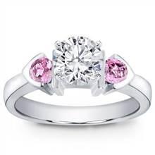 Pink Sapphire Accented, Bezel Set Setting   Adiamor