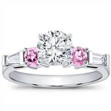 Pink Sapphire and Round Diamond Setting   Adiamor