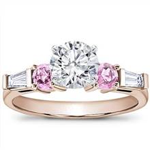 Pink Sapphire and Round Diamond Setting | Adiamor