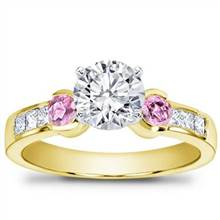 Pink Sapphire Channel-Set Engagement Setting | Adiamor