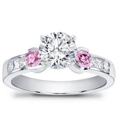 Pink Sapphire Channel-Set Engagement Setting
