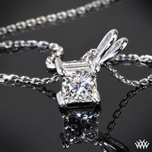 Platinum 4 Prong Princess Pendant Setting | Whiteflash