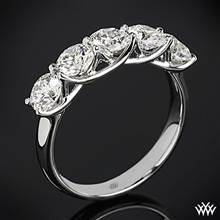 Platinum 5 Stone Trellis Diamond Right Hand Ring - Setting Only | Whiteflash