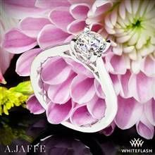 Platinum A. Jaffe ME1569Q Seasons of Love Solitaire Engagement Ring | Whiteflash