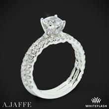 Platinum A. Jaffe ME1851Q Art Deco Diamond Wedding Set | Whiteflash