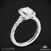 Platinum A. Jaffe ME2051Q Seasons of Love Halo Diamond Engagement Ring | Whiteflash