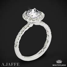 Platinum A. Jaffe ME2167Q Classics Halo Diamond Engagement Ring | Whiteflash