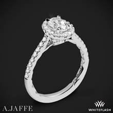Platinum A. Jaffe ME2181Q Seasons of Love Halo Diamond Engagement Ring | Whiteflash