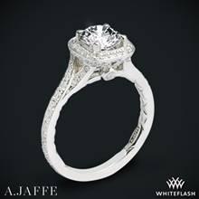 Platinum A. Jaffe ME2256Q Halo Diamond Engagement Ring | Whiteflash