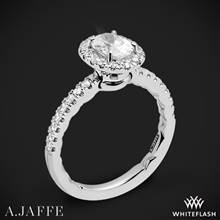 Platinum A. Jaffe ME2264Q Pirouette Halo Diamond Engagement Ring | Whiteflash
