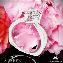 Platinum A. Jaffe MES463 Seasons of Love Solitaire Engagement Ring | Whiteflash