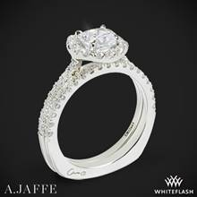 Platinum A. Jaffe MES577 Metropolitan Halo Diamond Wedding Set | Whiteflash