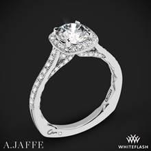Platinum A. Jaffe MES754Q Seasons of Love Halo Diamond Engagement Ring   Whiteflash
