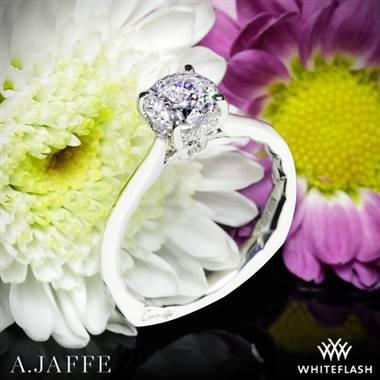 Platinum A. Jaffe MES837Q Solitaire Engagement Ring