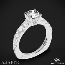 Platinum A. Jaffe MES870 Metropolitan Diamond Engagement Ring | Whiteflash