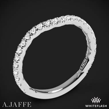 b7bd23bdf0dca Platinum A. Jaffe MR1850Q Classics Diamond Wedding Ring