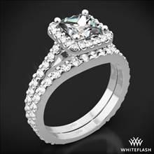 Platinum Amphora for Princess Diamond Wedding Set | Whiteflash