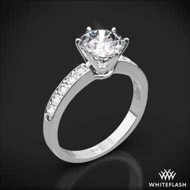 Platinum Bead-Set Diamond Engagement Ring