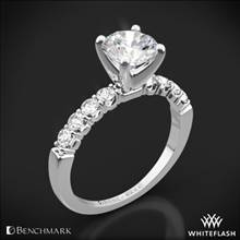 Platinum Benchmark CSP4 Crescent Diamond Engagement Ring | Whiteflash