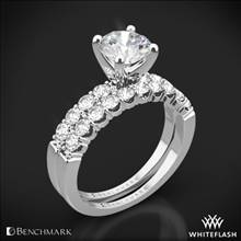 Platinum Benchmark CSP4 Crescent Diamond Wedding Set | Whiteflash