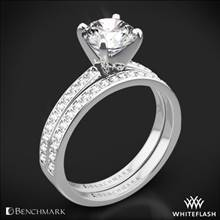 Platinum Benchmark LCP1 Small Pave Diamond Wedding Set | Whiteflash