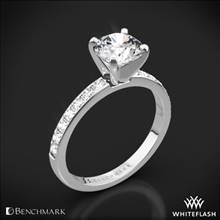 Platinum Benchmark LCP2 Large Pave Diamond Engagement Ring | Whiteflash