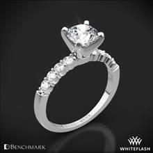 Platinum Benchmark SP4 Shared-Prong Diamond Engagement Ring | Whiteflash